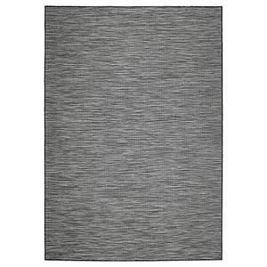 HODDE Ковер tk плоскости внутр/внешнее, серый в помещении/на открытом воздухе, черный