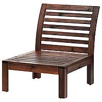 ЭПЛАРО Секция 1-местный диван, садовый, коричневая морилка коричневый