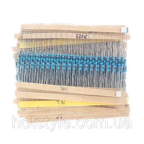 400x Резистор 1/4Вт MF 1% 10Ом-1МОм, набор