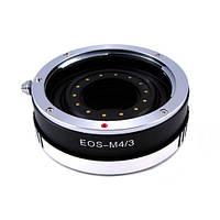 Переходник адаптер Canon EOS - Micro 4/3, апертура Ulata