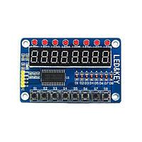 Модуль драйвер клавиатуры и светодиодной индикации TM1638 Arduino