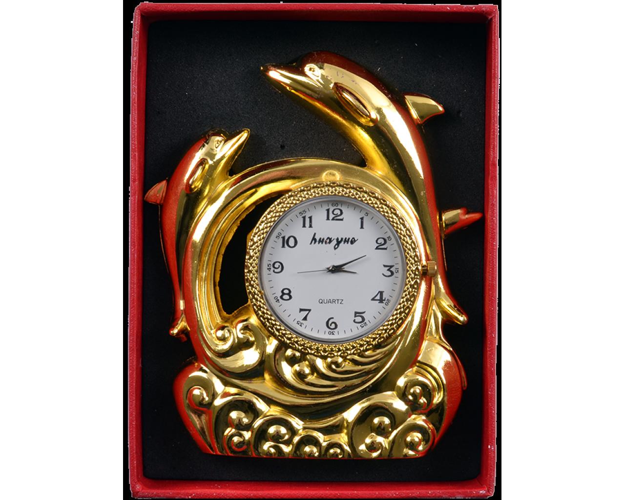 Запальничка подарункова з годинником Дельфіни №4373