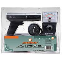 Комплект для регулировки двигателя: стробоскоп тестер, компресометр JONNESWAY AR020009