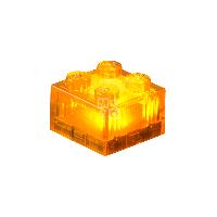 Конструктор Light Stax с LED подсветкой Transparent оранжевый 1 эл. 2х2 (LS-S11904-05)