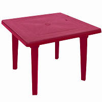 Стол пластиковый квадратный 80x80 см вишневый