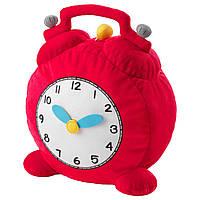 HEMMAHOS мягкая игрушка, часы, красный