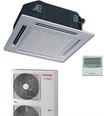 Сплит-система кассетного типа Toshiba 10 кВт(-20) RAV-SM11*UT(P)-E/RAV-SP11*AT(P)-E/ RBC-U31P6(P)-E/RBC-AMS41E