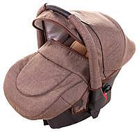 Автокресло Adamex Carlo len коричневый лен (0-13 кг)