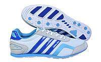 Мужские кроссовки Adidas F2013 02М серые с синим