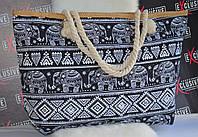 Серая пляжная сумочка.