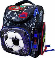 Рюкзак Delune 3-151 школьный детский для мальчиков рюкзачек для сменки и часы 30 см х 16 см х 36 см