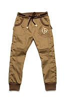 Брюки для мальчика джинсового типа (хаки)