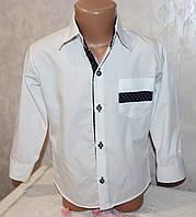 Школьная рубашка на мальчика 4-5,6-7,8-9,9-10 лет