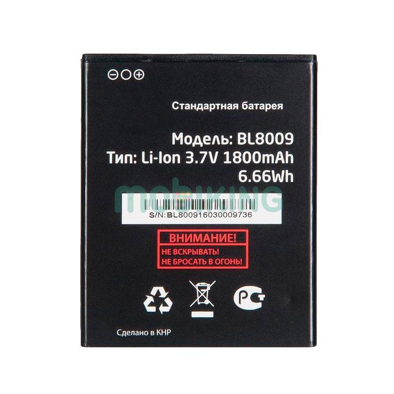 Оригинальная батарея на Fly FS451 (BL8009) для мобильного телефона, аккумулятор для смартфона.