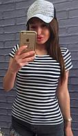 Женская полосатая футболка-тельняшка