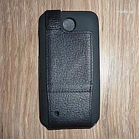 Чехол флип / книжка HTC Desire 300 / 301 кожа ILLUSION черная