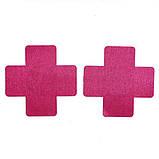 Наклейки на грудь в виде креста (стикини) розового цвета, фото 3