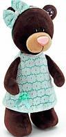 Мягкая игрушка Orange Мишка Milk в зеленом платье 25 см (M5044/25)