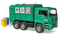 Bruder мусоровоз MAN TGA с задней загрузкой зеленый 1:16, фото 1