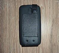Чехол флип / книжка HTC Desire 500 Dual Sim кожа ILLUSION черная