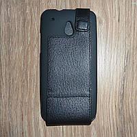 Чехол флип / книжка HTC One Mini / M4 кожа ILLUSION черная