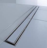 Линейный трап под плитку 68,5 см низкий сифон ACO ShowerDrain C-line горизонтальный фланец