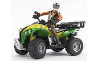 Bruder игрушка - квадроцикл с фигуркой водителя