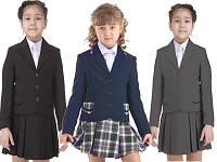 Жакет школьный для девочки в черном, синем, сером цветах.