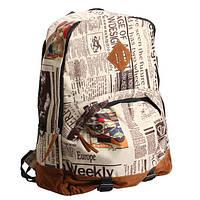 Городской рюкзак с принтом газеты