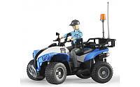 Bruder Игрушка полицейский квадроцикл c фигуркой женщины-полисмен