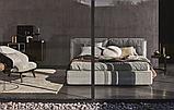 Современная кровать с мягким изголовьем и декоративным кантом FLANN фабрика Ditre Italia, фото 6