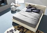 Современная кровать с мягким изголовьем и декоративным кантом FLANN фабрика Ditre Italia, фото 7