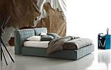 Современная кровать с мягким изголовьем и декоративным кантом FLANN фабрика Ditre Italia, фото 3