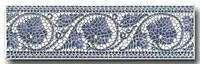 Коринт блакитний фриз 25х8 (фриз)