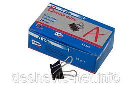 Биндер А+ чёрный, 19 мм, 9 (12 шт в упаковке)