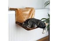 TRIXIE Гамак подвесной для кота, плюш, коричневый, 45х24х31см