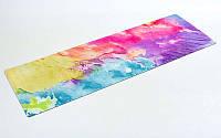 Коврик для йоги и фитнеса Yoga mat 2-х слойнный замша-каучук 3 mm  ( 1.83*0.61*3mm)