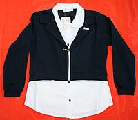 Обманка блузка для девочки 8-9-10-11-12 лет Жакет