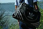 Сумка дорожня Adidas репліка, 30х46х18 см, черн, фото 2