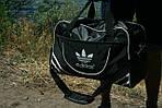 Сумка дорожня Adidas репліка, 30х46х18 см, черн, фото 3