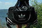 Сумка дорожня Adidas репліка, 30х46х18 см, черн, фото 4
