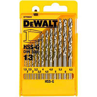 Набор сверл по металлу DeWalt HSS-G, 13шт.