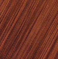 Шторы Нити, кисея, коричневый №10