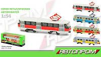 Машинка металлическая Трамвай (6411ABCD)