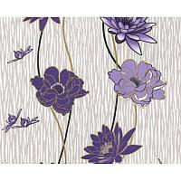 Обои бумажные Эксклюзив 048-05 фиолетовый