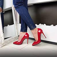 Туфли лодочки красные женские лаковые