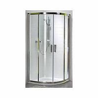 GEO 6 кабина полукруглая 80*80 см , (1/2 и 2/2) двери раздвижные, стекло PRISMATIC