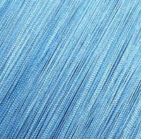 Шторы Нити, кисея, голубой №11