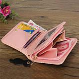 Жіночий маленький гаманець. Гаманець жіночий. Гаманці жіночі. Купити гаманець жіночий. Залишився чорний., фото 3