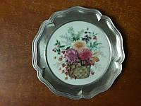 Оловянная декоративная тарелка , фото 1